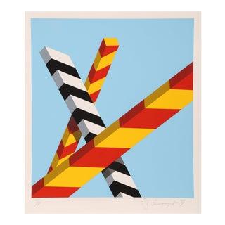 "Allan D'Arcangelo, ""Sky Bars"", Pop Art Screenprint"