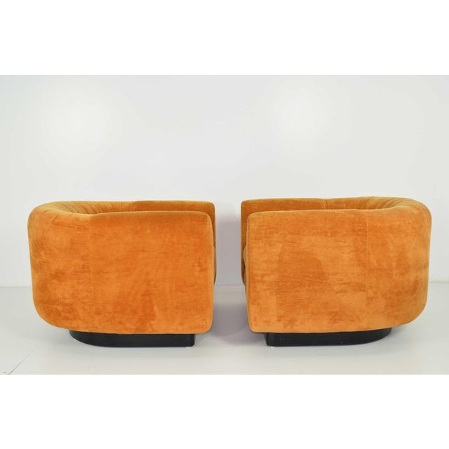 Pair of Milo Baughman Style Lounge Chairs by Metropolitan Furniture - Image 5 of 9