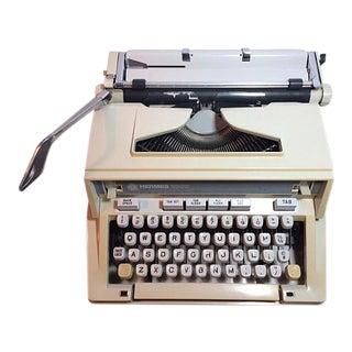 Vintage 1970's Hermes 3000 / Media Portable Typewriter & Case