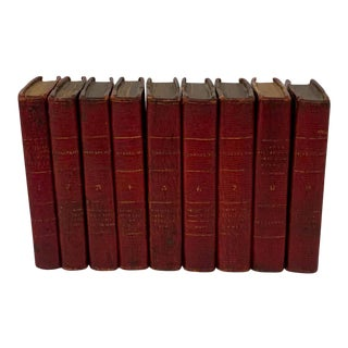William Shakespeare's Plays in Miniature 9 Volume Leather Bound Volumes, 1803 For Sale