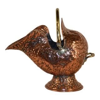 19th Century Antique English Copper Coal Hod For Sale