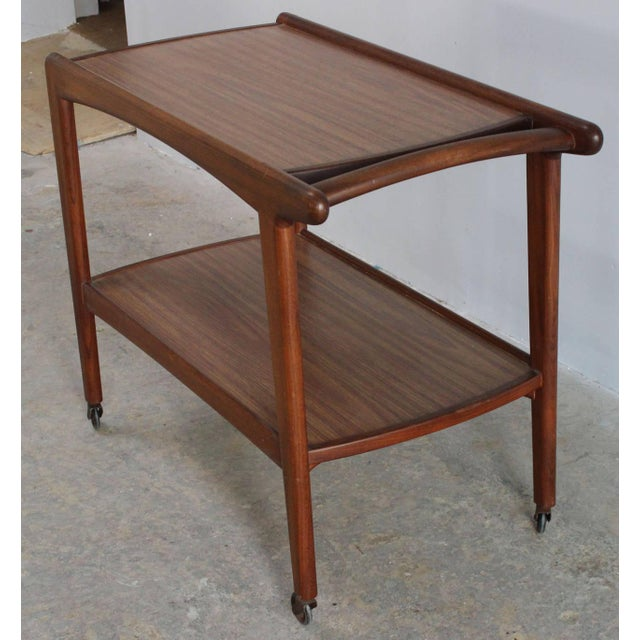 1960s Danish Rolling Server For Sale - Image 5 of 7