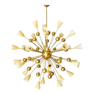 Mid 20th Century Italian Shades Sputnik Chandelier For Sale