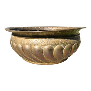 Vintage French Style Brass Planter For Sale
