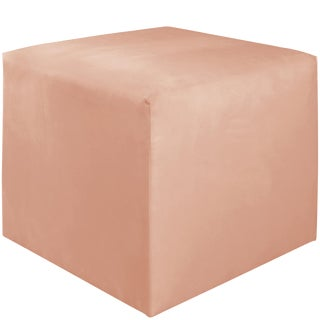 Cube Ottoman in Titan Pink Champagne