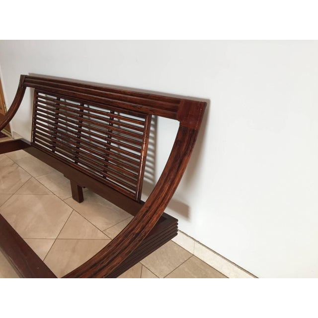 Roche Bobois Mid Century Wicker Low Platform Bed by Maugrion Made in France for Roche Bobois For Sale - Image 4 of 10