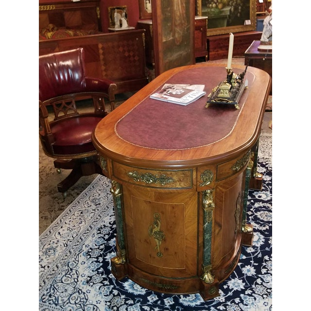 Egyptian Classical Revival Desk For Sale - Image 11 of 12