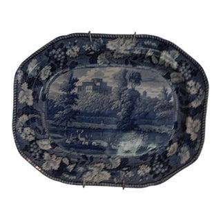 Enoch Wood Transfer Ware Kenmount House Pattern Platter For Sale
