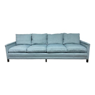 Lee Industries Living Room Extra Long Sofa For Sale