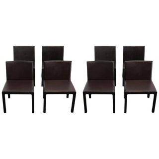 Set of 8 Italian Dining Chairs by Altherr Molina for Aspen Asper Spa For Sale