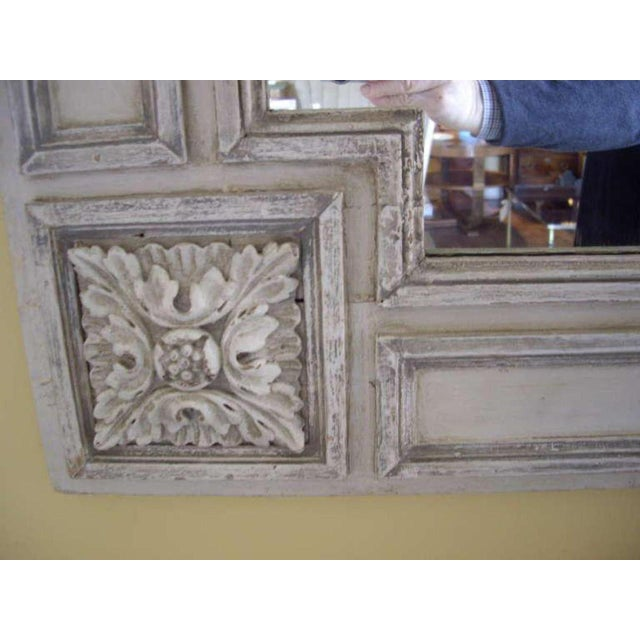 Wood 19th Century Italian Painted Church Frame Wall Mirror For Sale - Image 7 of 9
