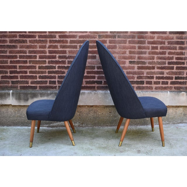 Mid-Century Modern Mid Century Modern Slipper Chairs - a Pair For Sale - Image 3 of 10