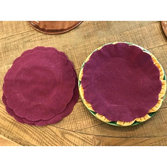 Leaf Style Dessert Plates - Set of 6 For Sale - Image 5 of 6