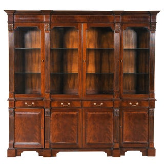Niagara Furniture Mahogany Penhurst Breakfront For Sale