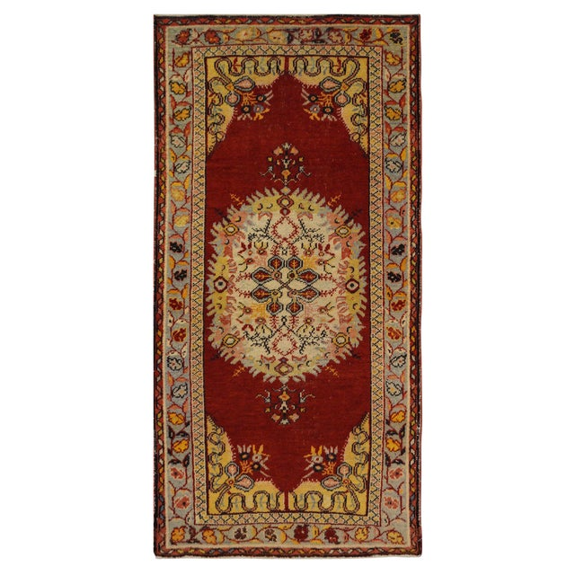 "Vintage Turkish Oushak Rug - 3'3"" x 6'5"" - Image 1 of 3"