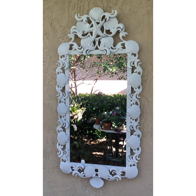 Seashell Iron Mirrors - a Pair For Sale - Image 10 of 13