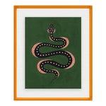 Apple the Snake by Willa Heart in Amber Orange Acrylic Shadowbox, Medium Art Print
