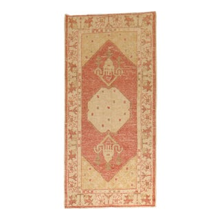 Soft Red Antique Oushak Rug, 2'10'' X 5'8'' For Sale