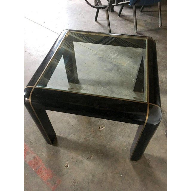 1980s Tesselated Horn Small Dining Table by Maitland Smith For Sale - Image 5 of 10
