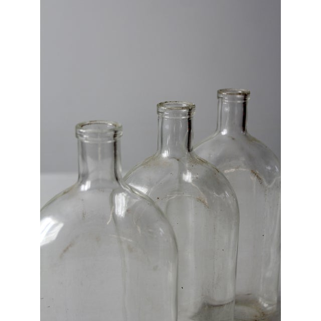 Early 20th Century Antique Pyrex Apothecary Bottle Collection - - Set of3 For Sale - Image 5 of 9
