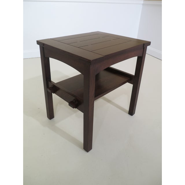 Arts & Crafts Stickley Mission Oak Arts & Crafts Occasional End Table For Sale - Image 3 of 10