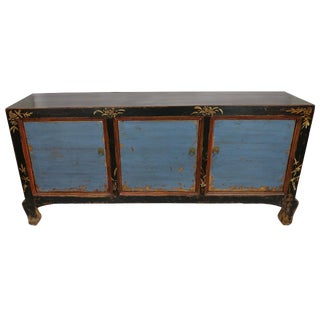 Circa 1900 Blue Antique Gansu Sideboard