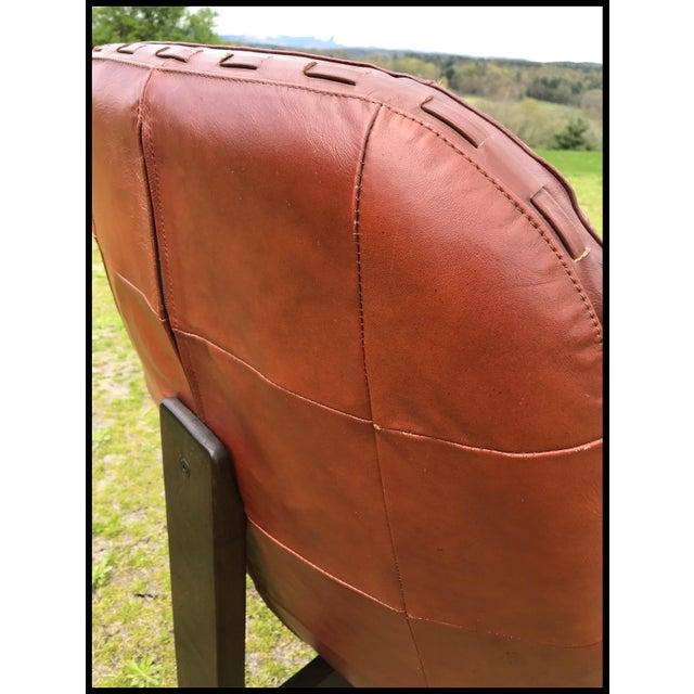 Jean Gillon Rare Jean Gillon Rosewood Leather Lounge Chair Ottoman Probel Brazilian For Sale - Image 4 of 11