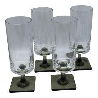 Rosenthal George Jensen Square Base Glasses - Set of 4 For Sale