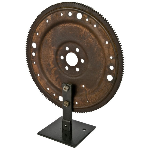 Rustic Flywheel on Display Stand - Image 3 of 3
