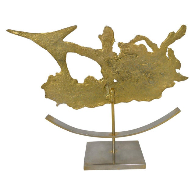Brutalist Brutalist Sagittarius Sculpture by Philippe Cheverny For Sale - Image 3 of 4
