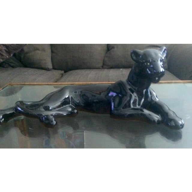 Art Deco Black Jaguar Figure - Image 3 of 7