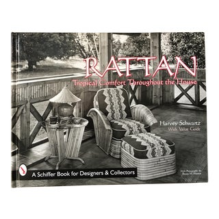 """Signed """"Rattan Furniture"""" 1st Edition Coffee Table Book by Harvey Schwartz For Sale"""