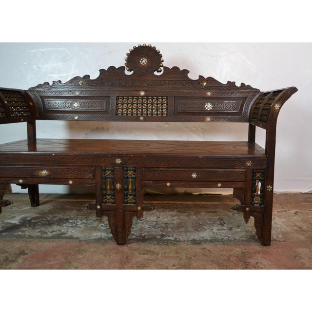 Islamic 1940s Vintage Syrian Bench For Sale - Image 3 of 10