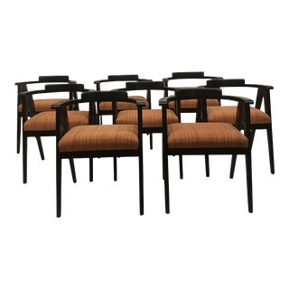 1960s Mid-Century Modern Allan Gould Style Dining Chairs - Set of 8