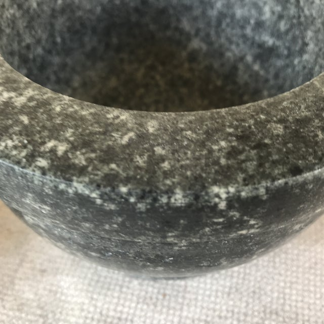 1990s Vintage Stone Mortar & Pestle For Sale - Image 5 of 10