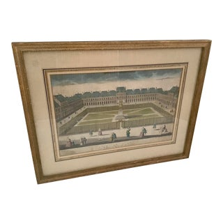 "19th Century French ""Palais Royal in Paris"" Etching For Sale"