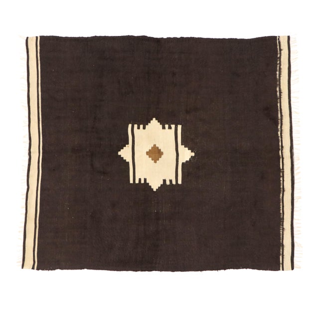 Vintage Turkish Angora Blanket Rug - 04'00 X 04'06 For Sale