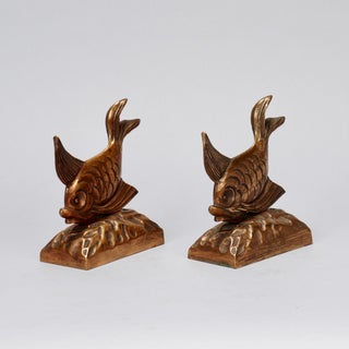 Bronze Art Deco Fish Bookends - a Pair Preview