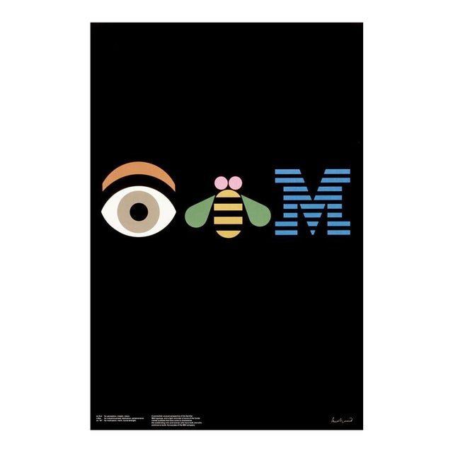 IBM Rebus Poster by Paul Rand For Sale