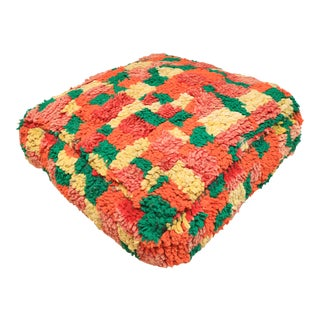 Moroccan Colorful Unstuffed Pouf Cover For Sale
