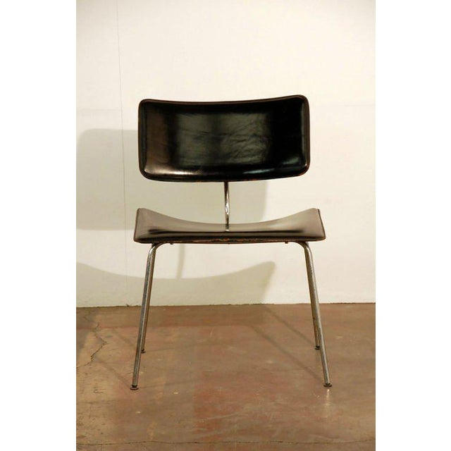 Animal Skin 1970s Slender Italian Stitched Leather Lounge Chairs - a Pair For Sale - Image 7 of 10