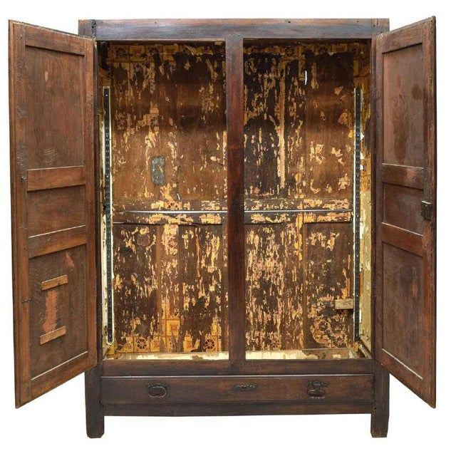 This fantastic Louis XIII Style armoire is from France and made in the 18th c. It features the case fitted with double...