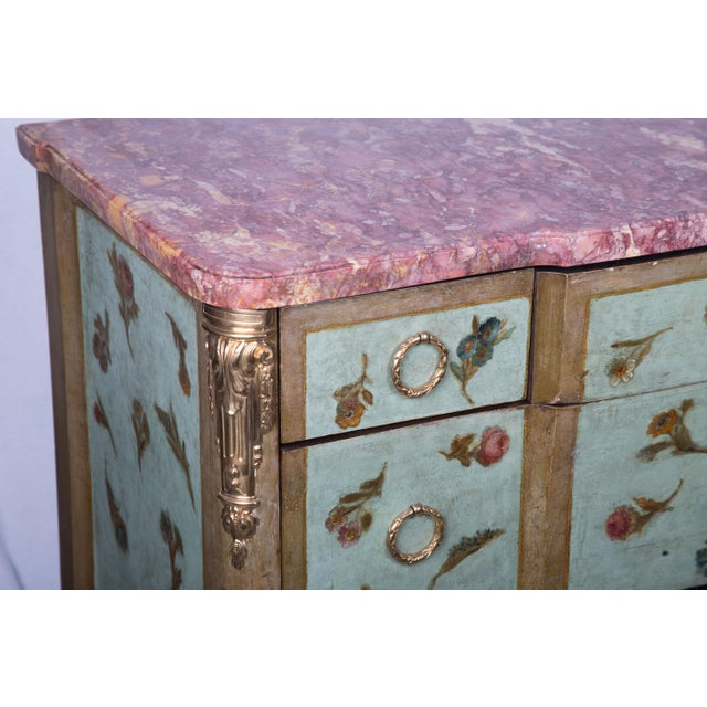 Late 19th Century 19th Century Louis XV/XVI Transitional Style Painted Commode For Sale - Image 5 of 7
