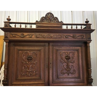 20th Century French Rennasaince Henry II Ornately Carved Server Sideboard Bookcase Preview