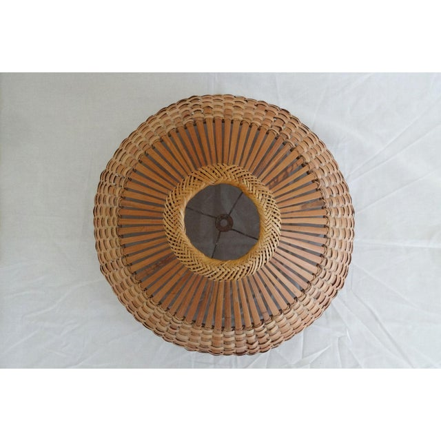 1960s 1960s Mid Century Modern Bamboo/Rattan Lampshade For Sale - Image 5 of 8