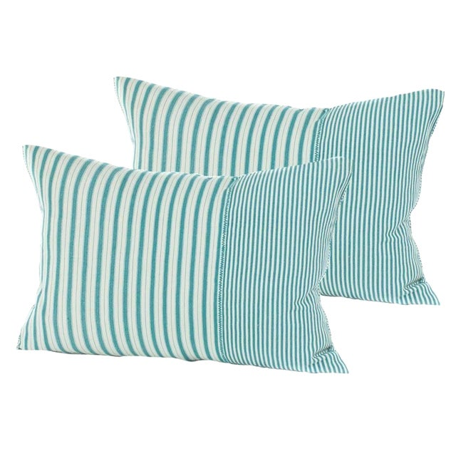 Highlands Striped Pillow Covers - A Pair - Image 1 of 3