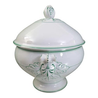 Large Antique Italian Soup Tureen For Sale