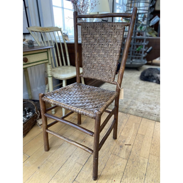 Brown Old Hickory Dining Chairs - a Pair For Sale - Image 8 of 9