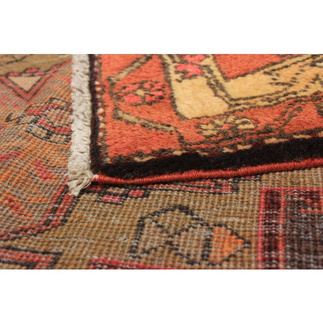 """Islamic Ardabil Vintage Persian Rug, 3'6"""" x 10'2"""" feet For Sale - Image 3 of 5"""