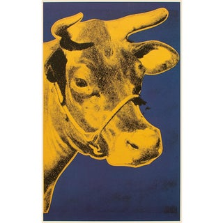 """1993 Andy Warhol """"Cow, Yellow and Blue, 1971"""", Pop Art Lithograph For Sale"""